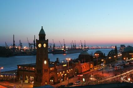 Blick über Hamburger Hafen